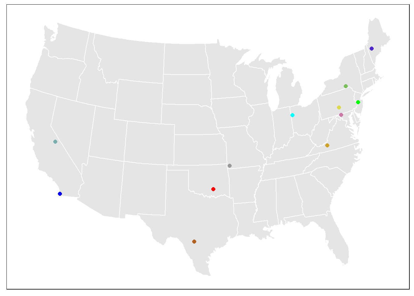 Initial map work