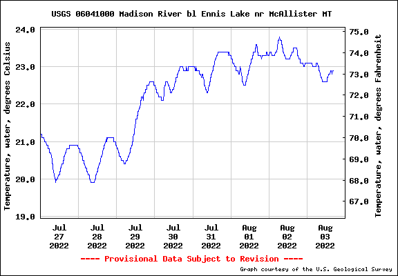 Water Level Graph for USGS Station 06041000