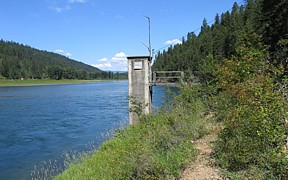 Kootenai River at Leonia, ID - USGS file photo