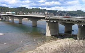 Kootenai River at Bonners Ferry, ID - USGS file photo