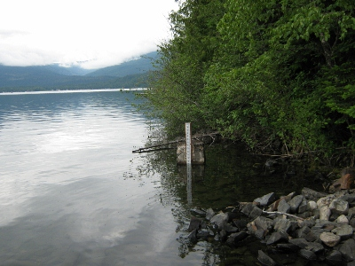 Priest Lake at outlet near Coolin, ID - USGS file photo