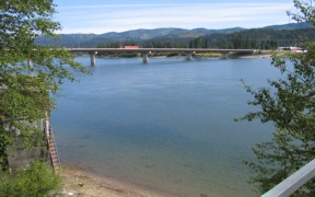 Pend Oreille River at Newport, WA - USGS file photo