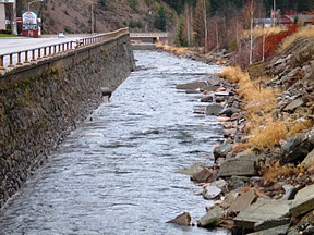 SF Coeur d'Alene River abv Placer Creek at Wallace, ID- USGS file photo
