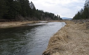 SF Coeur d'Alene River above Pine Creek near Pinehurst, ID - USGS file photo