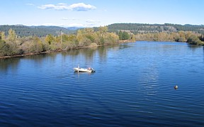 Coeur d'Alene River near Harrison, ID - USGS file photo