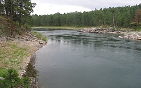 Spokane River near Post Falls, ID - USGS file photo