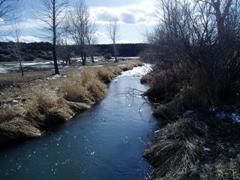 Canyon Creek at Oregon Train Xing near Mountain Home, ID - USGS file photo