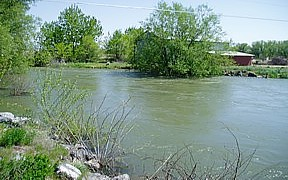Boise River South Channel near Eagle, ID - USGS photo May 2006