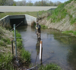Eagle Drain at Eagle, ID - USGS file photo