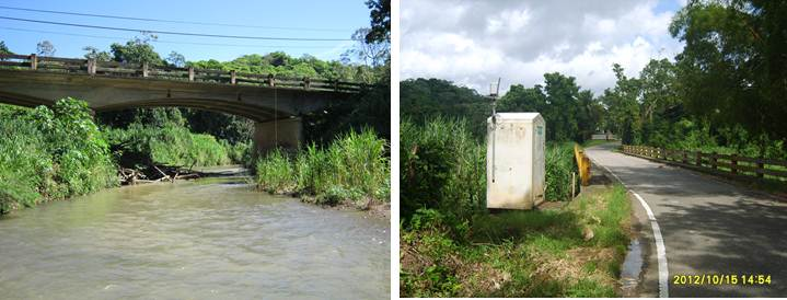 Image of Rio Culebrinas at Highway 404 near Moca