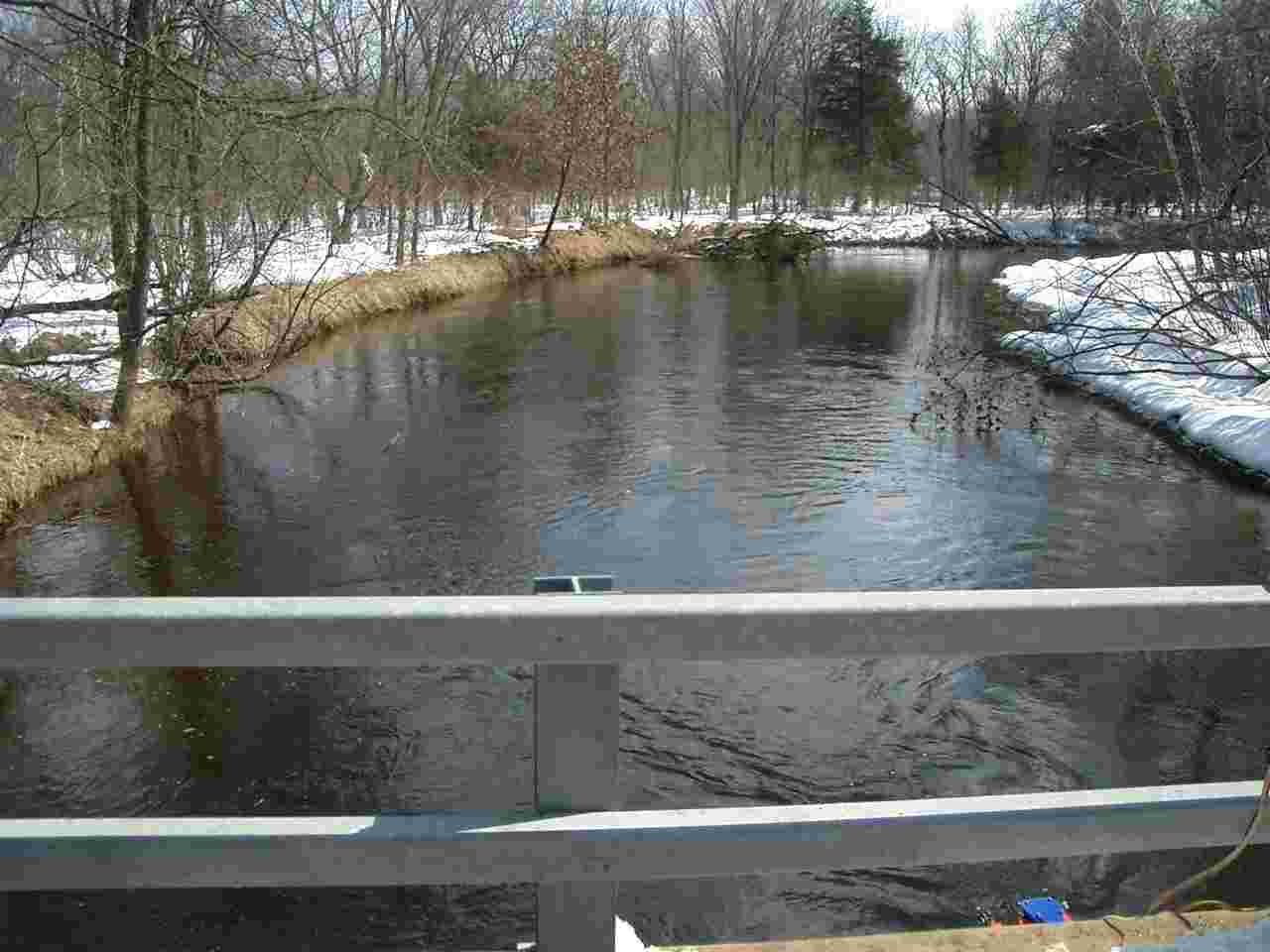 Photo of the river at the gage location